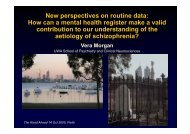 New perspectives on routine data: How can a mental health register ...
