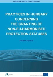 practices in hungary concerning the granting of non-eu-harmonised ...