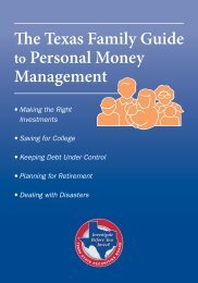 The Texas Family Guide to Personal Money Management