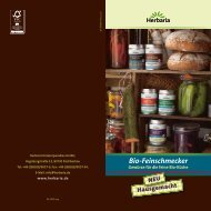 Bio-Feinschmecker - Herbaria Kräuterparadies GmbH