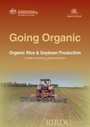 Organic Rice & Soybean Production - Bad Request