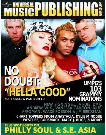 "no doubt: ""hella good"" - Universal Music Publishing"