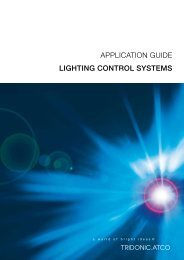 APPLICATION GUIDE LIGHTING CONTROL SYSTEMS