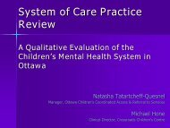 System of Care Practice Review - Children's Mental Health Ontario