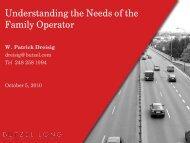Understanding the Needs of the Family Operator - OESA
