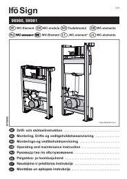 Produktblad till Ifö Sign WC-element - VVS-Klimat