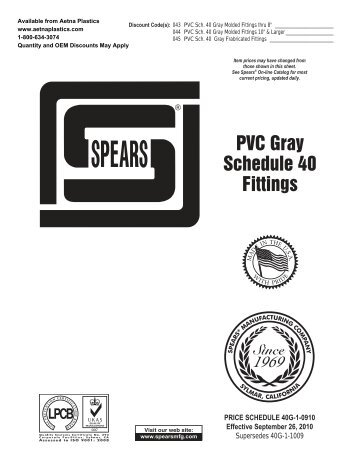 PVC Gray Schedule 40 Fittings - Aetna Plastics Corporation