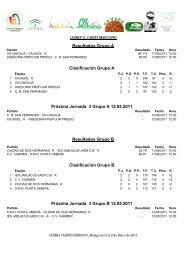 Resultados y clasificación 2ª jornada - Federación Andaluza de ...