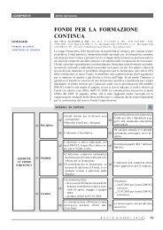 FONDI PER LA FORMAZIONE CONTINUA - Ratio