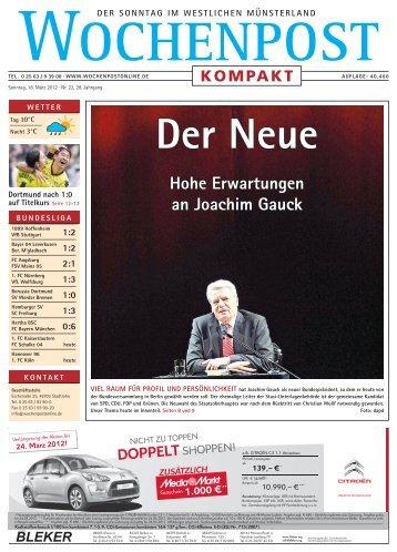 Hohe Erwartungen an Joachim Gauck