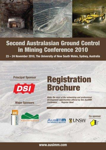 Ground Control 2010 Registration:X - The AusIMM