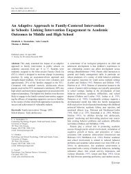 An Adaptive Approach to Family-Centered Intervention in ... - Mplus