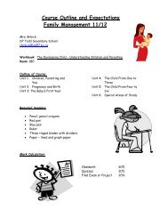 Course Outline and Expectations Family Management ... - D.P. Todd