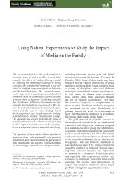 Using Natural Experiments to Study the Impact of Media on the Family