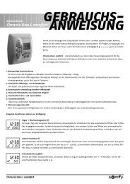 Chronis Uno L comfort GEBRAUCHS- ANWEISUNG - Rohrmotor24