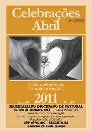celebrações abr 2011.pmd - Diocese de Erexim
