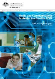 Media and Communications in Australian Families 2007 - ACMA