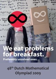 We eat problems for breakfast. - Nederlandse Wiskunde Olympiade