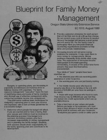 Blueprint for Family Money Management - ScholarsArchive at ...