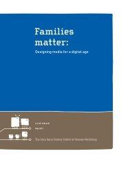 Families Matter - Joan Ganz Cooney Center