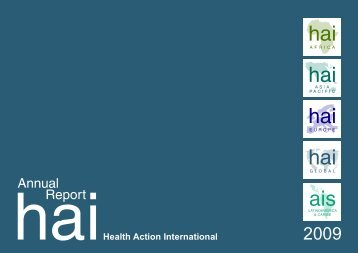 HAI Global Annual Report 2009 - Health Action International