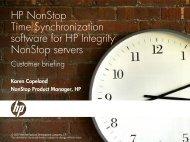 HP NonStop Time Synchronization presentation