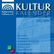 Kulturkalender 2013-2014 Pdf-Format - Kulturverein Gifhorn e.V.