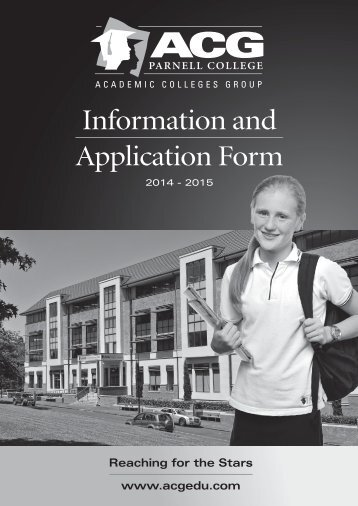 download an Application Form - The Academic Colleges Group
