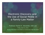 Electronic Discovery and the Use of Social Media in a Family-Law ...