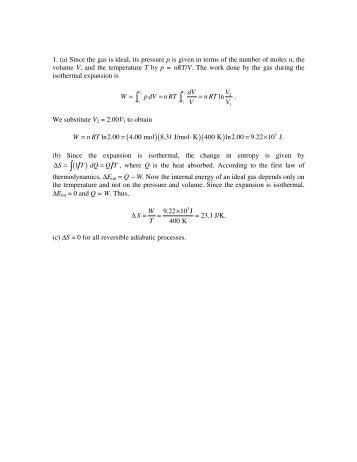 fundamentals involving physics assignments solutions