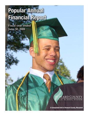 Popular Annual Financial Report - Howard County Public Schools