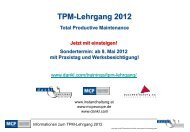 Termine des TPM-Lehrganges 2012 - Maintenance and Facility ...
