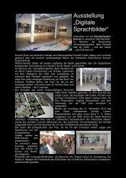 """Ausstellung """"Digitale Sprachbilder"""" - Konrad-Duden-Schule"""