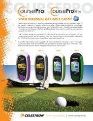 YOUR PERSONAL GPS GOLF CADDY - Celestron.UK.COM