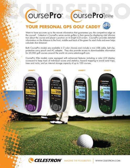 YOUR PERSONAL GPS GOLF CADDY - Celestron UK COM