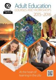 Friends Centre Brochure 2015-16
