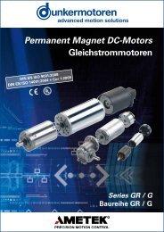 Kollektor-Gleichstrommotoren Baureihe GR/G - Dunkermotoren