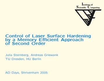Control of Laser Surface Hardening by a Memory ... - Autodiff.org