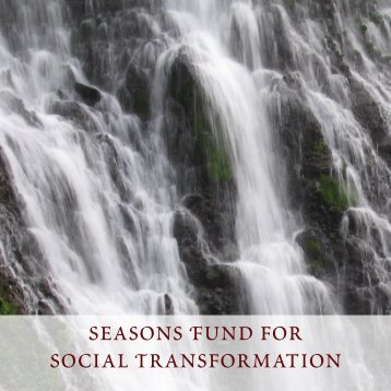 Seasons Fund for Social Transformation - christopher reardon