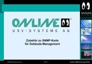 Zubehör zu SNMP-Karte für Gebäude-Management - Online USV ...