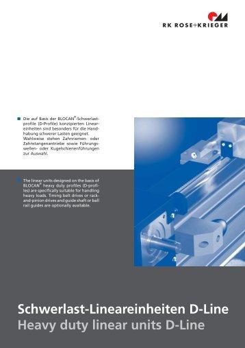 Schwerlast-Lineareinheiten D-Line Heavy duty linear units D-Line