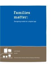 Families Matter: Designing Media for a Digital Age - Joan Ganz ...