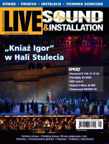 Live Sound & Installation 1/2012 - UlubionyKiosk