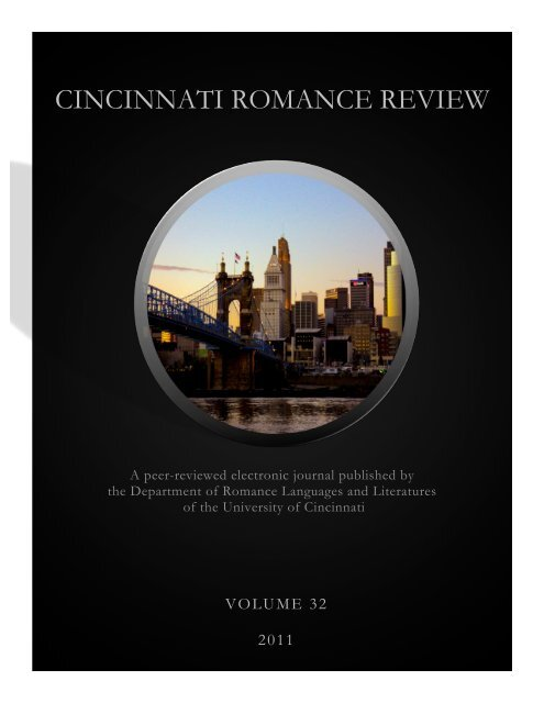 Volume 32 2011 Cincinnati Romance Review