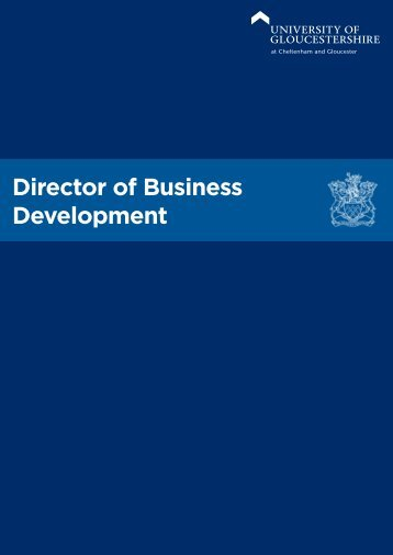 Director of Business Development - University of Gloucestershire