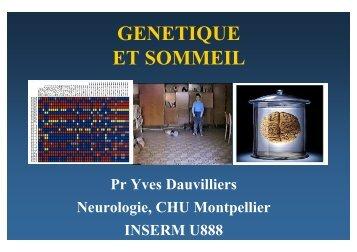 GENETIQUE ET SOMMEIL - SFRMS