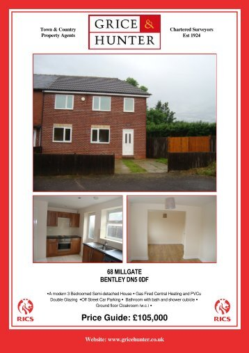 Price Guide: £105,000 - Grice & Hunter