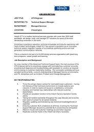 JOB DESCRIPTION JOB TITLE: ATS Engineer REPORTING ... - Imtech