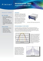 WaveShaper 1000S Product Brief - Finisar
