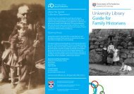 Family Historians - University of St Andrews
